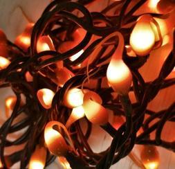 Pumpkin Spice Hand Dipped String Lights - 100 Ct Strand - Se