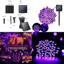PURPLE Solar String Lights Christmas Outdoor 200Led Powered