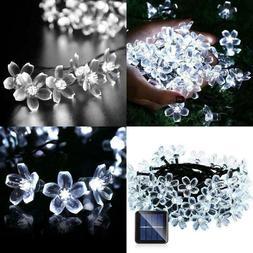 Qedertek Solar String Lights, Fairy Garden Blossom Christmas