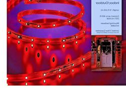 Red Philips 15 ft LED Flat Rope Lights, 15 Feet, Red With Mo