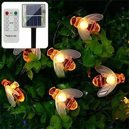 ErChen Remote Control Solar Powered String Lights, 30 Cute H