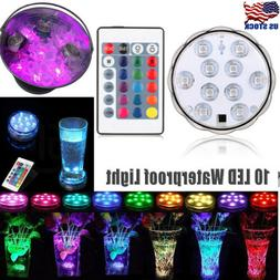 Remote Controlled RGB Submersible LED Lights Color Changing
