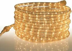 Tupkee Rope Light Clear - for Indoor and Outdoor use, 24 Fee