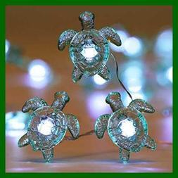 Sea Turtle Decorative String Lights 18.7 Ft 40 LED USB Plug