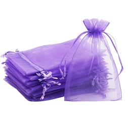 "SumDirect 100Pcs 4""x6"" Sheer Drawstring Organza Jewelry Pouc"