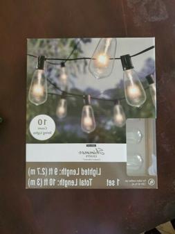 Ashland Shimmer Edison Indoor / Outdoor String Lights  New i