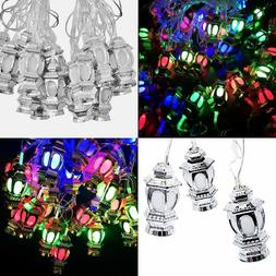 Silver 20 LED 15 Feet Lantern String Lights Ramadan Celebrat