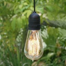 Single Socket Black Commercial Grade Outdoor Pendant Light L