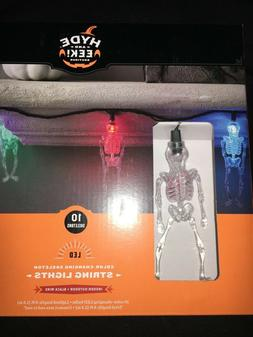 Skeleton color changing String Lights - 10 count Halloween L