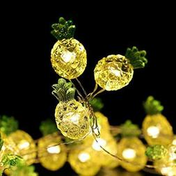 Small Pineapple Decorative String Lights 18.7 Ft 40 LED USB