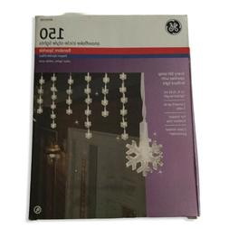 Snowflake String Lights Icicle Style Lights 150 Clear Light