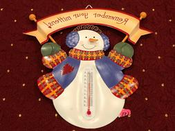 snowy days thermometer 2005 remember your mittens