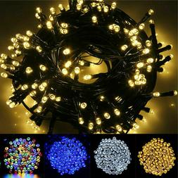 Solar 100/200/500 LED String Fairy Lights Garden Outdoor Par