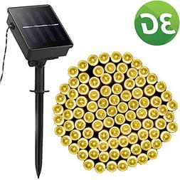 Solar Outdoor 200 LED String Lights Warm White 72ft 8 Twinkl