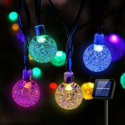 Solar 30 LED String Light Crystal Ball Garden Yard Decor Lam