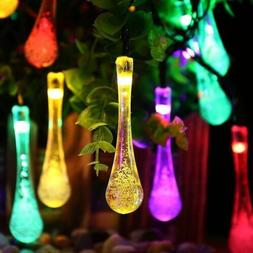 Solar Bubble Ball/Waterdrop String Lights Lamp 8 Mode 30LED