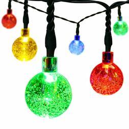 EasyDecor Solar Christmas String Lights 30 LED Ball 21ft Mul