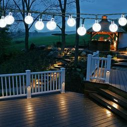 EasyDecor Solar Christmas String Lights 30 LED Ball 21ft Coo