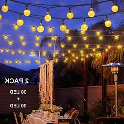 Binval Solar String Lights for Outdoor Patio Lawn Landscape