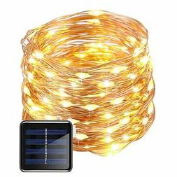 Solar Copper Wire Fairy String Lights 50ft 150LED Starry Str