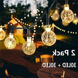 Solar Globe String Lights 30 LED 19.8ft Outdoor Crystal Ball