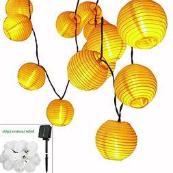 Solar LED Lanterns String Lights, ALED LIGHT 18.1Ft 5.5M 30