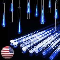 Solar LED Meteor Shower Lights Falling Raindrop Icicle Strin