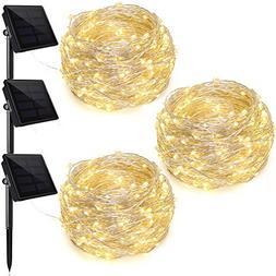 Ankway Outdoor Solar Lights, 200 LED Solar Powered String Li