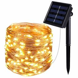 Solar Lights Fairy String Light Indoor Outdoor for Patio Law
