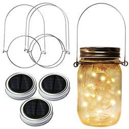 Homeleo 3 Pack Solar Mason Jar Lid Insert w/Stainless Steel