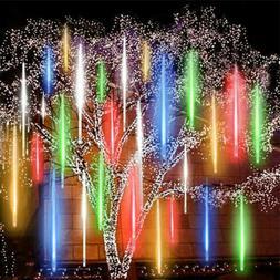 Solar Meteor Shower Lights Waterproof Light Tube String Gard