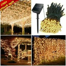 Solar Power 100-300 LED String Lights Waterproof Outdoor Fai