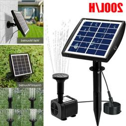 Solar Power Fountain Submersible Water Pump With Filter Pane