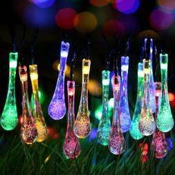 Solar Power String Fairy Lights Garden Outdoor Muticolor Par