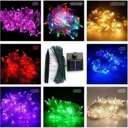 Solar Powered 100/200/300/400/500 LED String Fairy Lights Xm