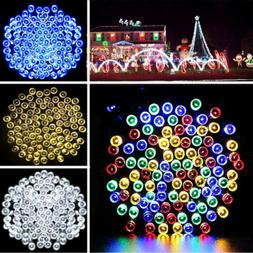 Solar Powered 100 200 LED String Fairy Lights Garden Outdoor
