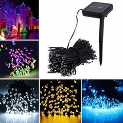 Solar Powered 100/200 LED String Fairy Lights Garden Outdoor