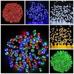 Solar Powered 100 200 LEDs String Fairy Tree Light Outdoor W