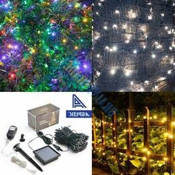 300 LED Solar String Lights 100ft Outdoor Fairy Lighting Xma