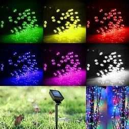 Solar Powered 60/100/200 LED String Fairy Lights Garden Outd