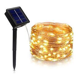 Tasodin Solar Powered LED String Lights, 32.8Ft/10M 100LEDs,