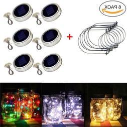 Solar Powered Mason Jar Lid Light 20 LED Fairy Light String