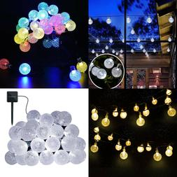 Solar Powered String Lights 30 LED Outdoor Crystal Balls New