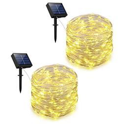 Adecorty Solar Powered String Lights, Outdoor String Lights