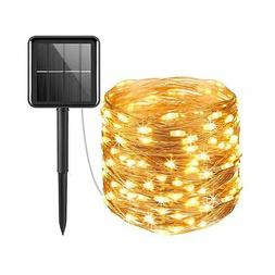 AMIR Solar Powered String Lights, 100 LED Copper Wire Lights