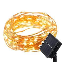Solar Powered Weatherproof Outdoor/Indoor Copper String Ligh