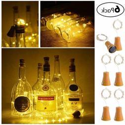 Solar Powered Wine Bottle 20LED Cork fairy string night Ligh