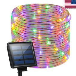Solar Rope Night Fairy String Twinkle LED Lights Waterproof
