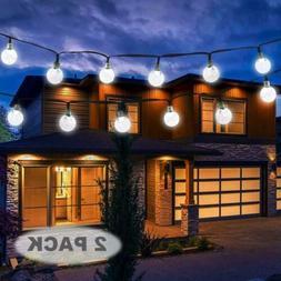 Vivii Solar String Light 20 ft 30 LED Crystal Ball Waterproo