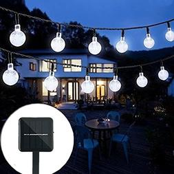 Bolansi Solar String Light 20 ft 30LED Crystal Ball Waterpro